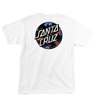 Santa Cruz Dot Splatter T-Shirt - White