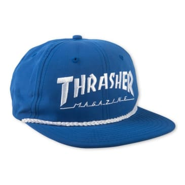 Thrasher Rope Snapback Cap Blue / White