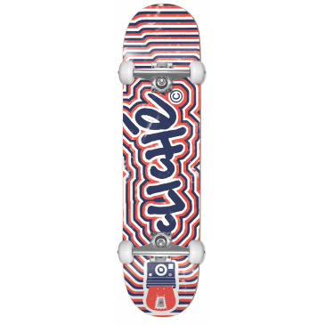 "Cliche - 7.875"" Psyche First Push Complete Skateboard (Red / Blue)"