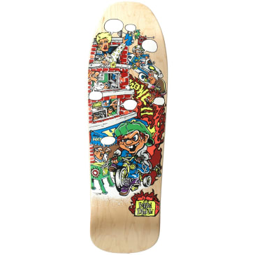 """New Deal Andy Howell Tricycle Kid Deck Natural - 9.625"""" Screenprinted"""