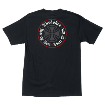 Thrasher X Independent Oath S/S Tee - Black