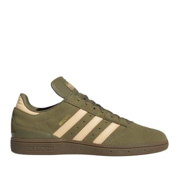 adidas Skateboarding Busenitz Pro Shoes - Raw Khaki / Glow Orange / FTWR White