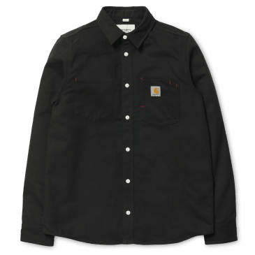 Carhartt WIP L/S Tony Shirt - Black Rigid