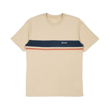 BRIXTON Gate Stripe Knit Tee Safari