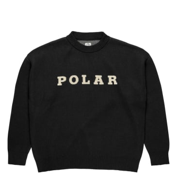 Polar Skate Co Polar Knit Sweater 2 - Black