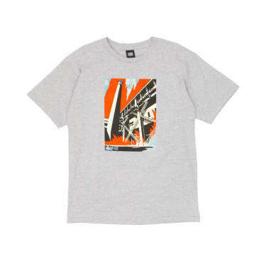 Obey Fossil Factory T-Shirt - Heather Grey