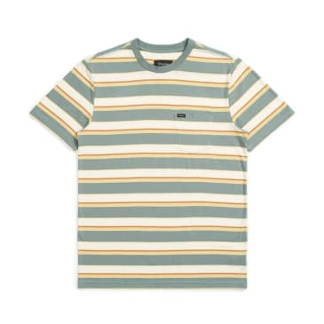 BRIXTON Hilt Pocket Knit Tee Cypress