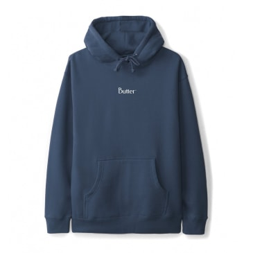 Butter Goods Micro Classic Logo Pullover Hoodie, Slate Blue