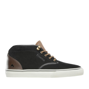 Emerica Wino G6 Mid Skate Shoes - Black / Brown / Grey