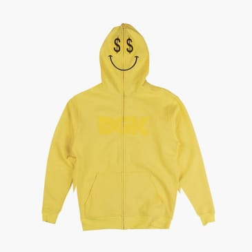 DGK Paid Zip Up Hooded Fleece - Yellow
