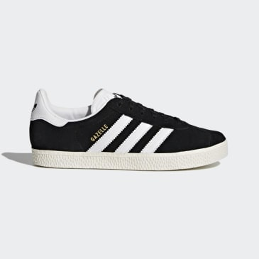 Adidas - Gazelle J - Core Black / Footwear White / Gold Metallic