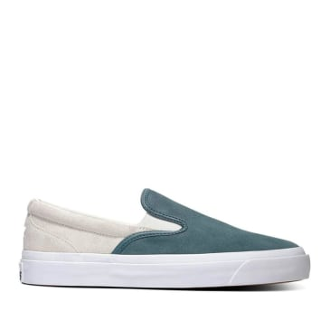 Converse CONS One Star CC Pro Suede Slip Shoes - Faded Spruce / Egret