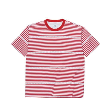 Polar Skate Co Stripe Logo Tee - Red