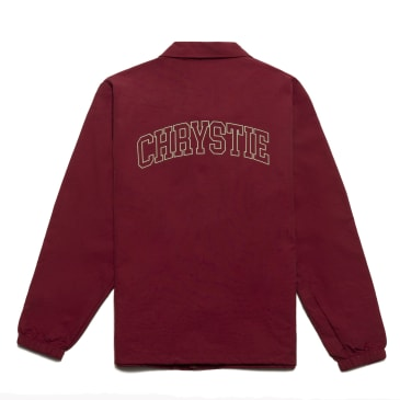 Chrystie NYC - Collegiate Logo Coach Jacket_Burgundy