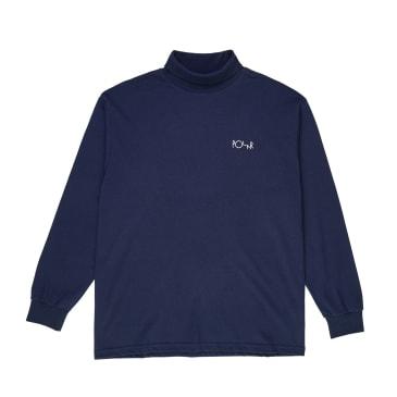 Polar Skate Co. - Script Turtleneck Longsleeve T-Shirt - Rich Navy