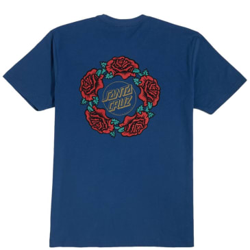Santa Cruz Women's Dressen Rose Ring Boyfriend T-Shirt - Cool Blue