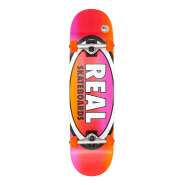 Real Oval Fades Larger Complete Skateboard - 8.25""