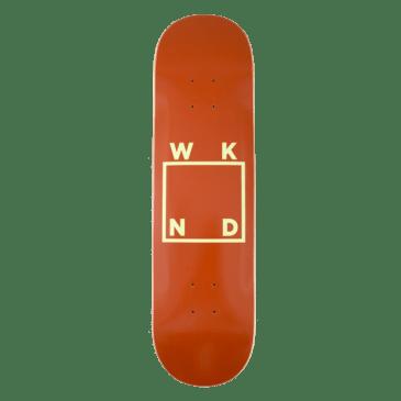 "WKND - Brown + Yellow Logo Skateboard Deck - 7.75"" | 8.25"" | 8.5"""
