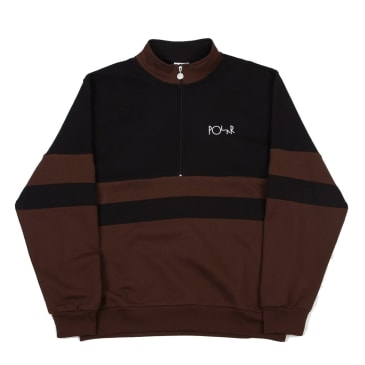 Polar Skate Co Block Zip Crewneck Black / Brown