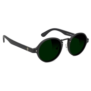 Glassy P Rod Premium Polarised Sunglasses - Matte Black / Green