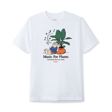 Butter Goods Music For Plants T-Shirt - White