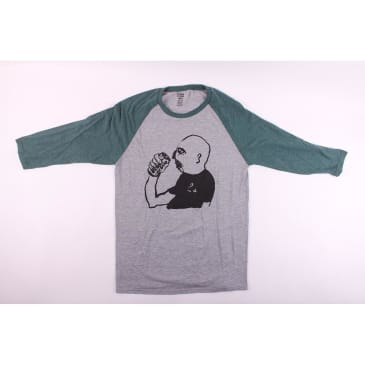 Lowcard X Russ Pope Baseball Tee 2 Grey