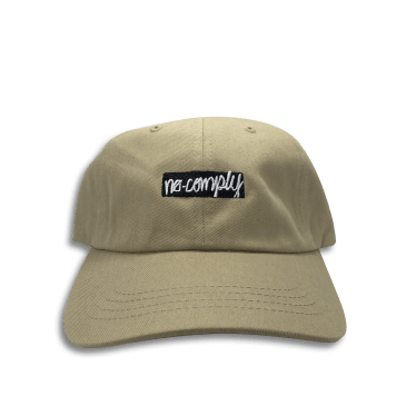 No-Comply Box Logo Dad Hat Khaki