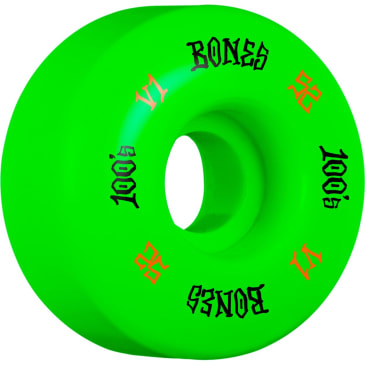 BONES 52mm 100's Wheels Green