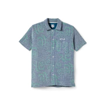 Polar Skate Co Patterned Shirt - Blue