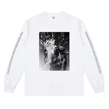 The National Skateboard Co. Cain Long Sleeve T-Shirt - White
