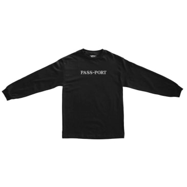 Pass~Port Official Sweaty Embroidery Long Sleeve T-Shirt - Black