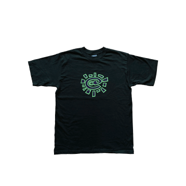 green and purple @sun tshirt black
