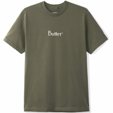 Butter Goods Classic Logo Tee, Olive