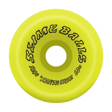 Santa Cruz Wheels Scudwads Vomits Neon Yellow Slime Balls 95a 60mm