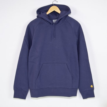 Carhartt WIP - Chase Pullover Hooded Sweatshirt - Cold Viola / Gold