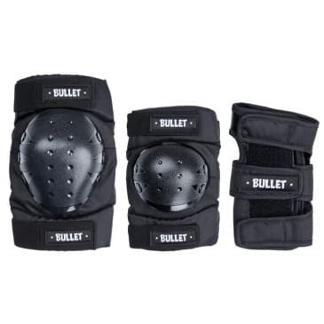 Bullet - Triple Pad Set - Black - Adult Large