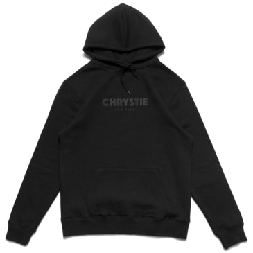 Chrystie NYC Chrystie OG Logo Embroidered Hoodies - Black - Apricot