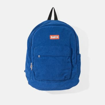 Baker Skateboards Brand Logo Corduroy Backpack Royal Blue
