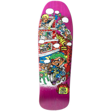 """New Deal Howell Trycycle Kid SP Deck 9.625"""" Pink"""