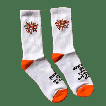 always do what you should do - white / orange @sun sock