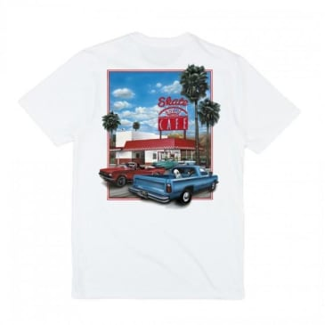 Skateboard Cafe Drive Thru T-Shirt - White