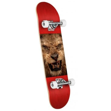Mini Logo Chevron Lion Eyes Compete Skateboard - 7.75""