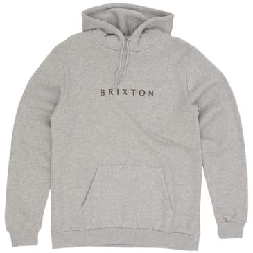 Brixton Alpha Line Hoodie - Heather Grey