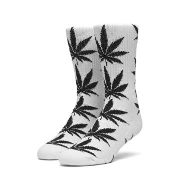 HUF PLANTLIFE SOCKS - WHITE BLACK