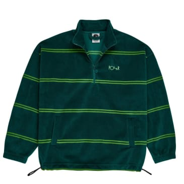 Polar Skate Co Striped Fleece Pullover 2.0 - Dark Green