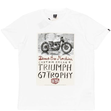 Deus Ex Machina Triumph Trophy T-Shirt - White