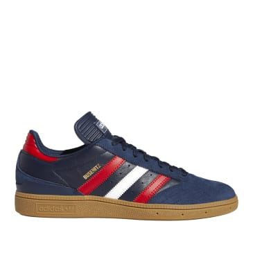 adidas Skateboarding Busenitz Shoes - Collegiate Navy / Scarlett / Cloud White