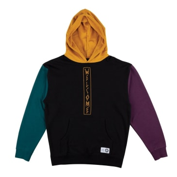 Welcome Quadrant Pullover Hoodie - Black/Gold