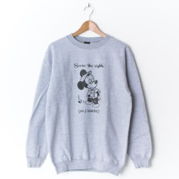 Snack Seein' The Sights Crewneck Grey
