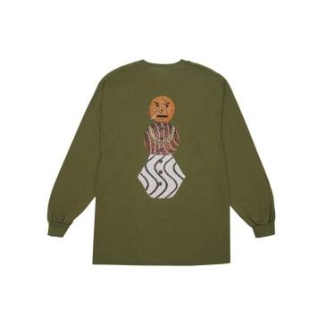Quartersnacks - Snackman L/S Tee - Military Green